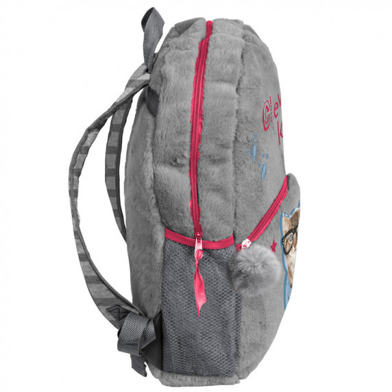 PASO plüss hátizsák 42x30x9 cm