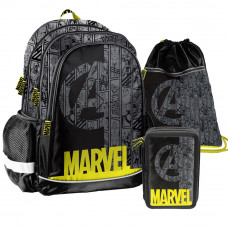 PASO Marvel iskolai szett - iskolatáska, tornazsák, tolltartó Előnézet