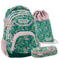 PASO Minnie Tropical iskolai szett - iskolatáska, tornazsák, tolltartó
