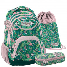 PASO Minnie Tropical iskolai szett - iskolatáska, tornazsák, tolltartó Előnézet