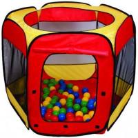 PARADISO TOYS Gyerek játszósátor labdákkal - Piros/sárga