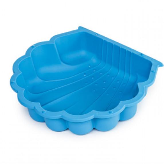 Kagyló homokozó 87 x 77,7 x 18 cm - kék Inlea4Fun