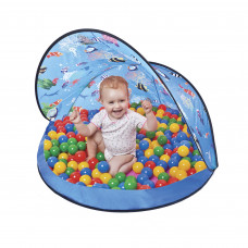 Strandsátor labdákkal Tent Blue Inlea4Fun - Kék Előnézet