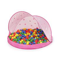 PARADISO TOYS Tent Pink Strandsátor labdákkal - Rószaszín