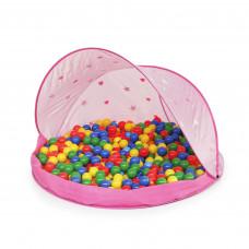 Strandsátor labdákkal Tent Pink Inlea4Fun - Rózsaszín Előnézet