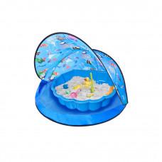 Strandsátor homokozóval Tent Blue Inlea4Fun - kék Előnézet