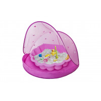 PARADISO TOYS Tent Blue Strandsátor homokozóval - Rózsaszín