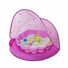 Strandsátor homokozóval Tent Pink Inlea4Fun - Rózsaszín Előnézet