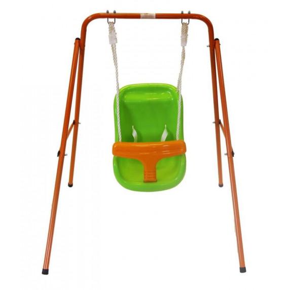 Fémvázas hinta - Naranccsárga/zöld Inlea4Fun