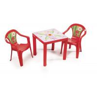 Kisasztal 2 székkel - Piros Inlea4Fun