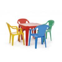 Gyerekasztal székekkel - színes Inlea4Fun