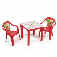 Kisasztal 2 székkel - Piros Inlea4Fun Előnézet