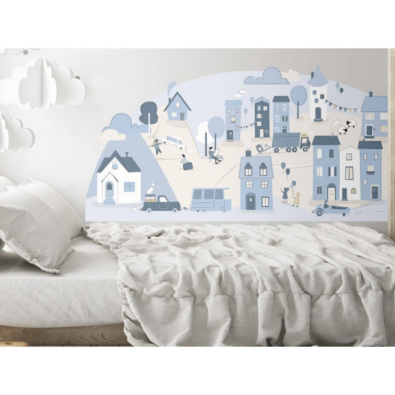 Falmatrica LIGHT BLUE SMALL TOWN 178  x 86 cm  - L