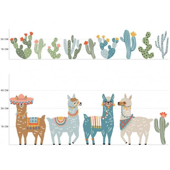 Falmatrica ANIMALS Llamas  - Lámák barna