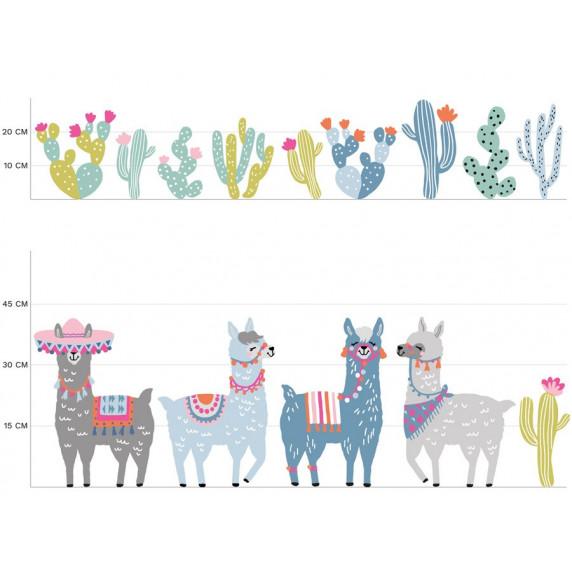 Falmatrica ANIMALS Llamas  - Lámák pasztell