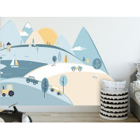 Falmatrica LIGHT BLUE MOUNTAINS 180  x 90 cm  - L