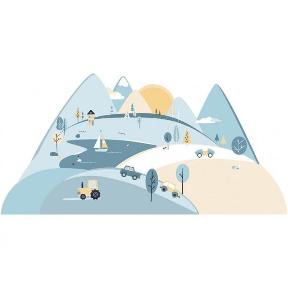 Falmatrica LIGHT BLUE MOUNTAINS 150  x 75 cm  - S