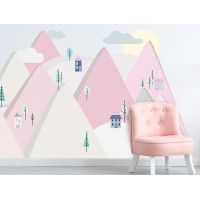 Falmatrica PINK MOUNTAINS 180  x 90 cm  - L
