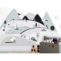 Falmatrica GREY MOUNTAINS 180  x 90 cm  - L