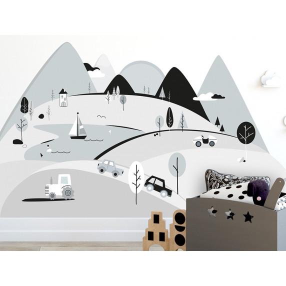 Falmatrica GREY MOUNTAINS 180  x 90 cm  - L