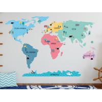 Falmatrica MAPS COLORFUL Világtérkép színes 100x50 cm - S