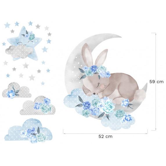 Falmatrica SECRET GARDEN Sleeping Rabbit - Alvó nyuszi kék