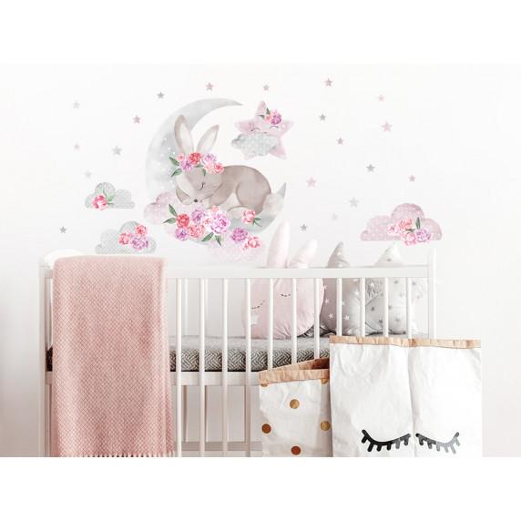 Falmatrica SECRET GARDEN Sleeping Rabbit - Alvó nyuszi rózsaszín