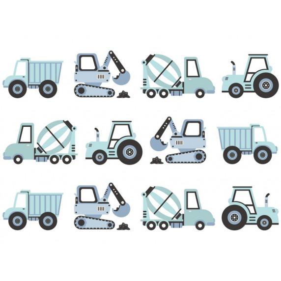 Falmatrica CONSTRUCTION VEHICLES 12 darabos - Építkezési járművek kék