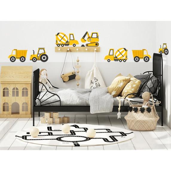 Falmatrica CONSTRUCTION VEHICLES 12 darabos - Építkezési járművek sárga