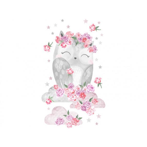 Falmatrica SECRET GARDEN Owl - Baglyos rózsaszín