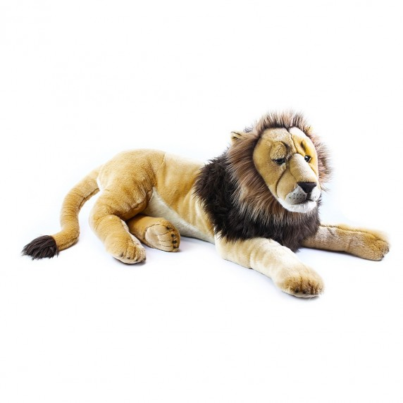 Plüss oroszlán fekvő 92 cm