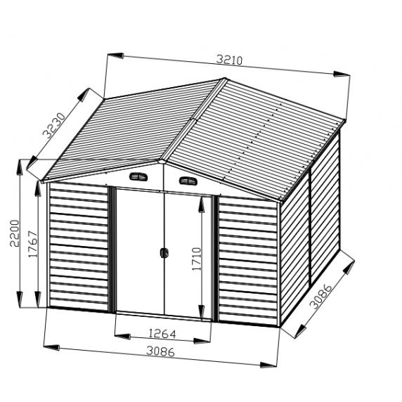 Tinman TIN707 kerti ház