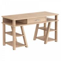 TAIPIT Comp Fiókos íróasztal polcokkal 140x60x78 cm - Devon Oak