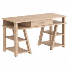TAIPIT Comp Fiókos íróasztal polcokkal 140x60x78 cm - Devon Oak Előnézet
