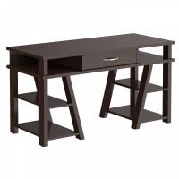 TAIPIT Comp Fiókos íróasztal polcokkal 140x60x78 cm - Wengge Magic
