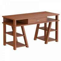 TAIPIT Comp Fiókos íróasztal polcokkal 140x60x78 cm - Noce Dallas