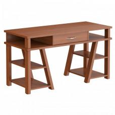 TAIPIT Comp Fiókos íróasztal polcokkal 140x60x78 cm - Noce Dallas Előnézet