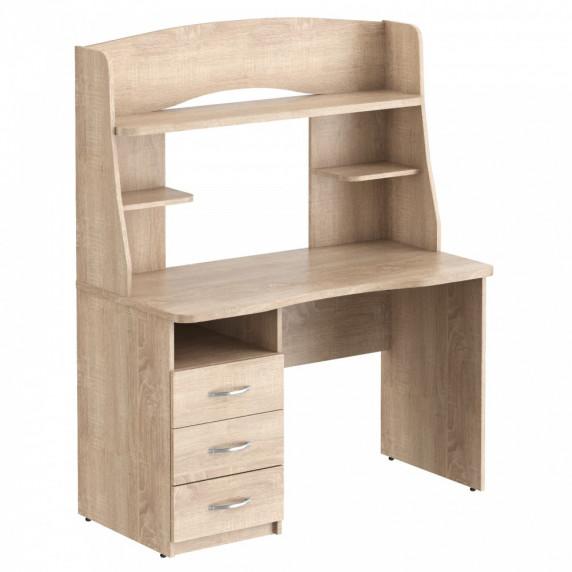 TAIPIT Comp Fiókos íróasztal polcokkal 120x60x152,5 cm - Sonoma Oak light