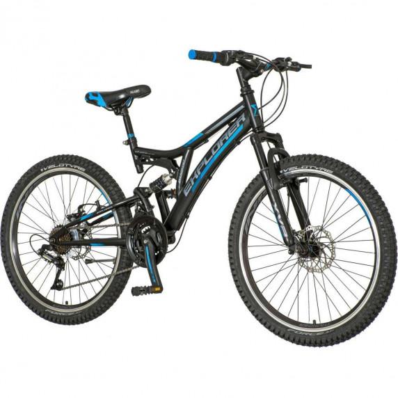 """Gyerek kerékpár  Explorer Thunder 24""""/15"""" TAN246AM - fekete/kék"""