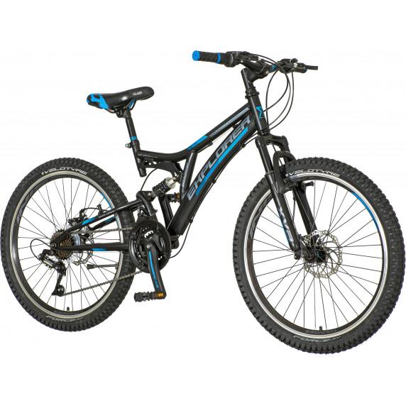 """Gyerek kerékpár  Explorer Thunder 24""""/15"""" TAN246AMD2- fekete/kék"""