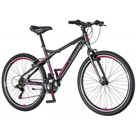"""Női kerékpár Visitor AURORA 26""""/18"""" AUR266 - szürke/lila/rózsaszín"""
