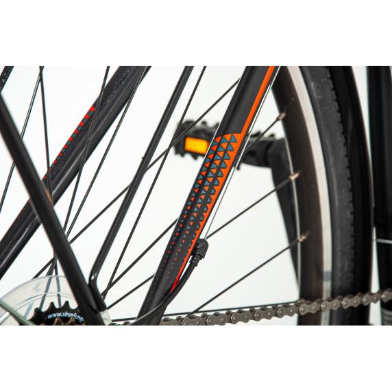 """Férfi kerékpár Explorer Classic  28""""/21"""" -fekete/narancssárga"""