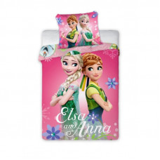 Ágyneműhuzat Anna és Elza - ovis 135 x 100 cm Előnézet