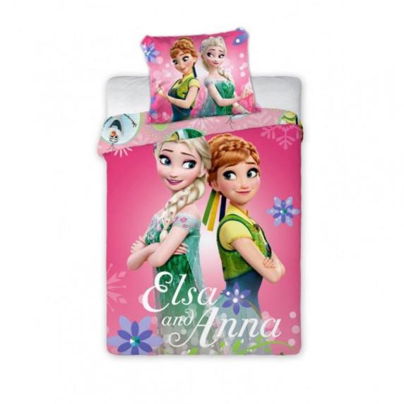 Ágyneműhuzat Anna és Elza - ovis 135 x 100 cm