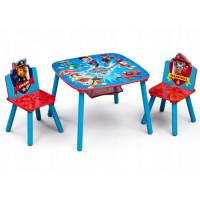 Gyerekasztal székekkel - Mancs őrjárat
