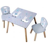 Gyerekasztal székekkel - láma