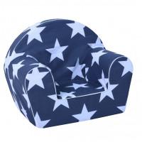Gyerek fotel - nagy csillagok - kék