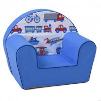 Gyerek fotel - közlekedési eszközök- kék
