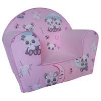 Gyerek fotel - panda -rózsaszín