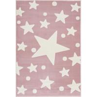 Csillagos szőnyeg 100x160 cm - rózsaszín/fehér